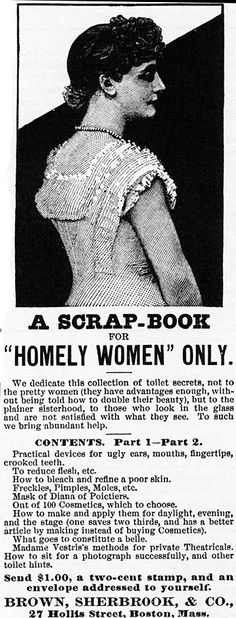 Homely women ad....goodness??