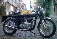 Classic Norton cafe racer