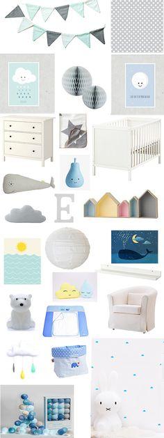 Du Möchtest Das Kinderzimmer Einrichten In Zartem Grau Und Blau Mit Einem  Tupfer Farbe. Du
