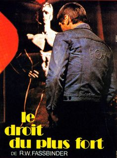 French fim poster for Le droit du plus fort (Fox and His Friends, directed by Rainer Werner Fassbinder, 1975)