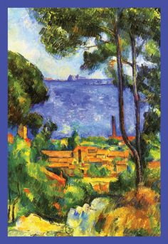 View of L'Estaque and Chateaux d'If, by Paul Cezanne