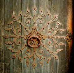 Knocker at Nidaros Cathedral in Trondheim, Norway - Founded c. 1070 - Photo by Helena Normark