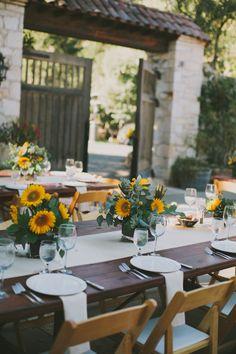 Chic Event Rentals sunflower wedding ideas