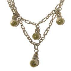 Quartz Necklace 14 Multi-strand White Snow Quartz Green Moss Vial Gemstone Crystal 22  Price : $85.00 http://www.idigcrystals.com/Quartz-Necklace-Multi-strand-Gemstone-Crystal/dp/B00BMJ67L4