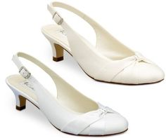 Coloriffics Destiny Low Heel and Ivory Wedding Shoes