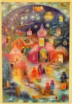 Beautiful and colorful Advent calendar.