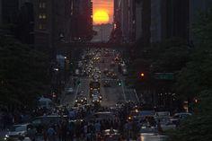 La ciudad de Nueva York y particularmente Manhattan se paralizó el miércoles último cuando un fenómeno solar pudo verse masivamente.  Foto:Reuters
