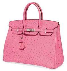 Hermes Birkin Bag in Pink Ostrich