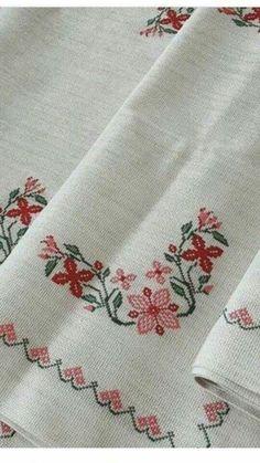 Small Cross Stitch, Cross Stitch Tree, Cross Stitch Charts, Cross Stitch Designs, Crewel Embroidery, Cross Stitch Embroidery, Beautiful Rose Flowers, Drawing Lessons, Cross Stitching