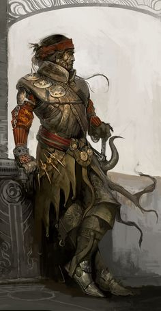 Corsair Pirate - but I see him also as a rogue/thief/warlock combo. Cool.