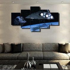Framed 5 Pcs HD Print Picture Poster Star Wars Painting Canvas Wall Art Picture Home Decoration Living Room Canvas Painting #Affiliate