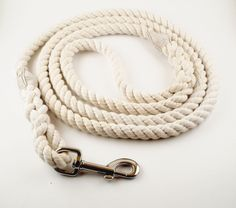 Rope Dog Leash - Cotton - Natural Coloring - No Dye by noahscorner on Etsy https://www.etsy.com/listing/226014844/rope-dog-leash-cotton-natural-coloring
