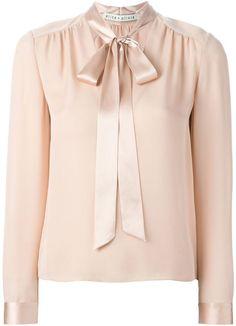 23941c7de75eeb Alice+Olivia pussy bow blouse Satin Blouses