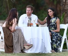 Meghan Markle partied with some of Prince Harry's closest pals at the wedding of one of his best friends in Jamaica on Saturday