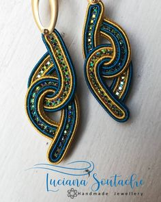 "Luciana Santarelli on Instagram: ""Ispirazione dal sito Royal-Stone #soutache #soutachemania #soutachearrings #soutacheaccessories #accessories #pendent #earrings…"""