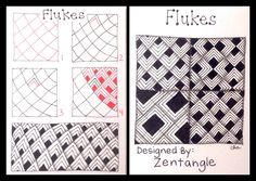 Zentangle : Tangle Pattern : Flukes | Flickr - Photo Sharing!
