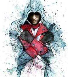 Abstract assassin's creed painting . . . . .  Art #artist #artistic #artists #arte #dibujo #myart #artwork #illustration #graphicdesign #graphic #color #colour #colorful #painting #drawing #drawings #markers #paintings #watercolor #watercolour #ink #creative #sketch #sketchaday #pencil #cs6 #photoshop #beautiful