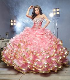 at Esmeralda Bridal & Quinceanera Shop for the latest Bridal, Quinceanera and formal dresses, Fall in love with these beautiful gowns and find your dream dress or Design your own. Ball Gown Dresses, 15 Dresses, Fashion Dresses, Girls Dresses, Mexican Quinceanera Dresses, Quinceanera Party, Quince Dresses, Beautiful Gowns, Dream Dress