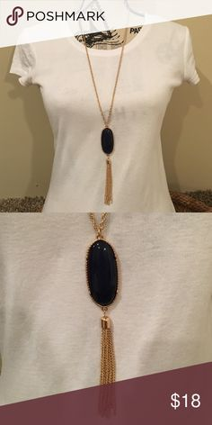 SALE Navy and gold necklace Super cute transitional necklace. Only worn a couple times. The clasp is adjustable. Charming Charlie Jewelry Necklaces