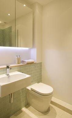 Slim House by Alma-nac -- Love this bathroom look w/ the tiles