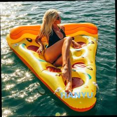 55.00$  Buy now - http://alilop.worldwells.pw/go.php?t=32604941367 - 180cm Inflatable Pizza Water Floats Swimming Pool Air Raft Floats For Summer Inflatable Swimming Rings 55.00$