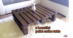 [VIDEO] A beautiful pallet coffee table - http://www.diyscoop.com/video-a-beautiful-pallet-coffee-table/