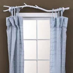 Branch Curtains- i thought about this the other day bc i couldn't find my curtain rods