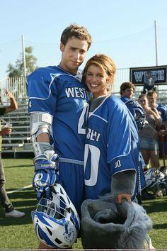 Annie and Ethan: Dustin Milligan as Ethan Ward and Shenae Grimes as Annie Wilson.