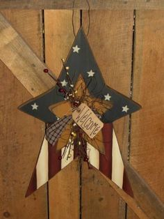 Americana Star With Small Star/Berries/Twigs