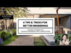 6 Tips and tricks to create amazing renderings you can use to promote your garden design ideas in all the social networks. Dream Garden, Tool Design, Social Networks, Online Courses, Garden Design, Tools, Amazing, Youtube, Instagram