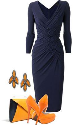 orange and navy by mandalorean - Fashion Chic