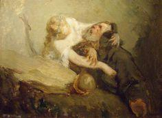 The Temptation of St. Anthony - Jean-Francois Millet. Titulo original: La Tentation de saint Antoine