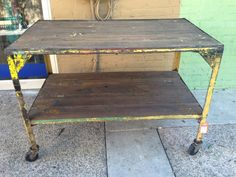 Hey, I found this really awesome Etsy listing at http://www.etsy.com/listing/159574187/vintage-industrial-rolling-cart