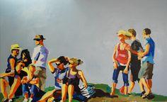 Bubble Scene I, 2014 Oil/Acrylic on Canvas 80 x 140 cm Bubbles, Scene, Oil, Canvas, Painting, Tela, Painting Art, Canvases, Paintings