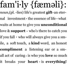 This may not be the definition of my family, but after June 9th it will be. This is what a family should be!