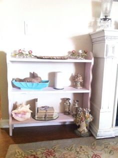 Shabby Chic Chippy Paint  Vintage Large Chippy Pink Book Shelf  by Vintagecollectorlove, $119.00
