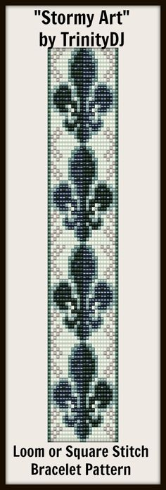 """New Loom or Square stitch bracelet pattern """"Stormy Art""""- will be available next week as direct download and/or kit."""