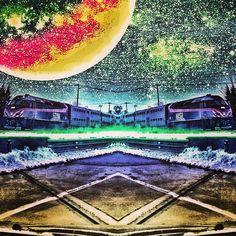 "@instadunk's photo: ""Living Tron. #mirrorgram #mirrorgramchi #metra #train #drivin #winter #spaced #spacefx #epicshot #editwork #editjunky #igedits #igeditor #inspiration #picfx #plpix #flyphone5 #skyporn #snapseed #symmetry #laserfix #madebyme #chitown #galaxy #glitchmobinspired #crystaledits"""