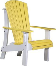 LuxCraft Royal Poly Adirondack Chair Eco friendly furniture that's comfy, durable, colorful and stylish! This Adirondack offers the royal treatment! Choose from a variety of colors and customize with seat cushion and cup holder.