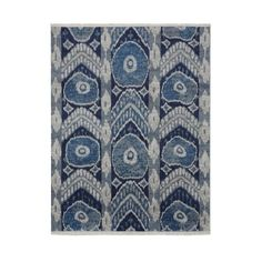 Luke Irwin: Nadya Ikat Hand Knotted Rug, Peacoat #williamssonoma