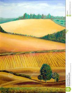 Italian landscape stock illustration. Image of horizon - 934079