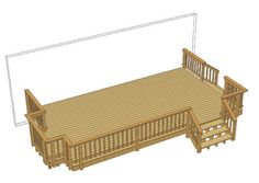 Best 24 X 12 Deck W Wide Stairs At Menards With Images 400 x 300