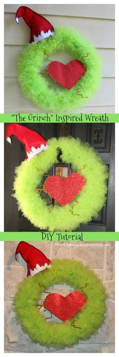 Best diy christmas decorations grinch Ideas Beste diy Weihnachtsschmuck Grinch Ideen The post Beste diy Weihnachtsschmuck Grinch Ideen & DIY Babies-Todds Dress-Winter appeared first on Yorgo. Diy Christmas Door Decorations, Grinch Christmas Decorations, Grinch Christmas Party, Christmas Holidays, Christmas Wreaths, Grinch Party, Office Decorations, Winter Wreaths, Xmas Party