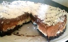 Super rich & sweet triple chocolate cheesecake with an Oreo base