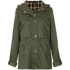 TOPSHOP Tall Hooded Lightweight Jacket (€31) ❤ liked on Polyvore featuring outerwear, jackets, coats, coats & jackets, khaki, lightweight jacket, cotton jacket, khaki hooded jacket, green jacket and lightweight hooded jackets