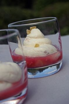 pretty syllabub serving idea