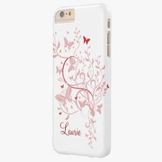 Cute iPhone 6 Case! This Pink Butterfly Personalized iPhone 6 case can be personalized or purchased as is to protect your iPhone 6 in Style!