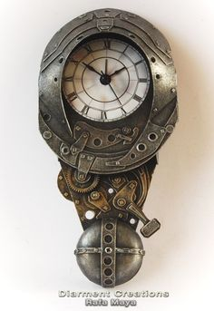 * Forged Metal Clock  by ~Diarment *  #Clockwork #Clockpunk #Steampunk