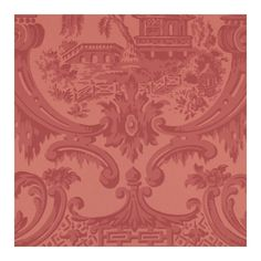Cole & Son Wallpaper Chippendale China Wallpaper (34 KWD) ❤ liked on Polyvore featuring home, home decor, wallpaper, damask pattern wallpaper, red pattern wallpaper, inspirational home decor, pattern wallpaper and red wallpaper