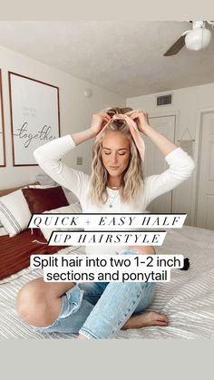 Mom Hairstyles, Easy Summer Hairstyles, Back To School Hairstyles For Teens, Gorgeous Hairstyles, Hairdos, Hippie Hair, Butterfly Hair, Hair Accessories For Women, Hair Hacks